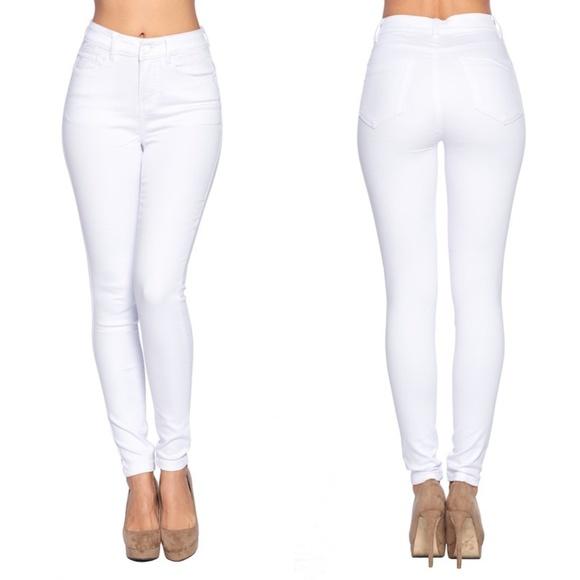 Blue Age Denim - High Waist White Denim Jeans~New Arrival